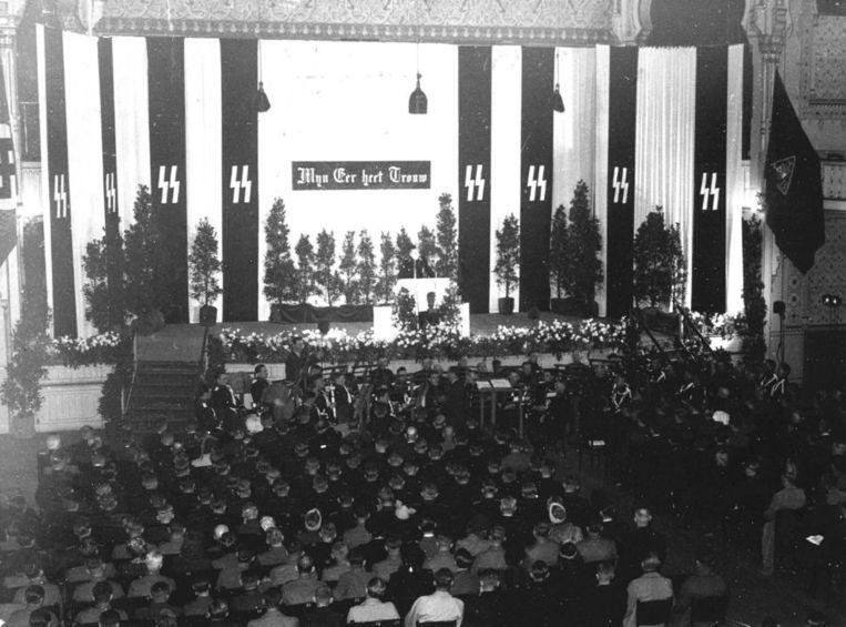 SS-bijeenkomst waar Henk Feldmeijer het woord voert Beeld ANP