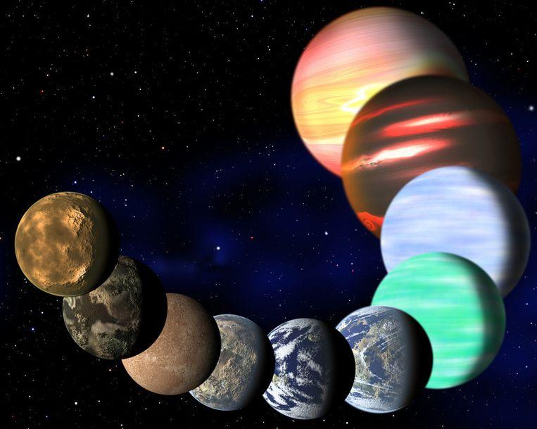 Een illustratie van de variëteiten van planeten die door de Kepler-telescoop worden waargenomen. Beeld C. Pulliam & D. Aguilar (CfA)