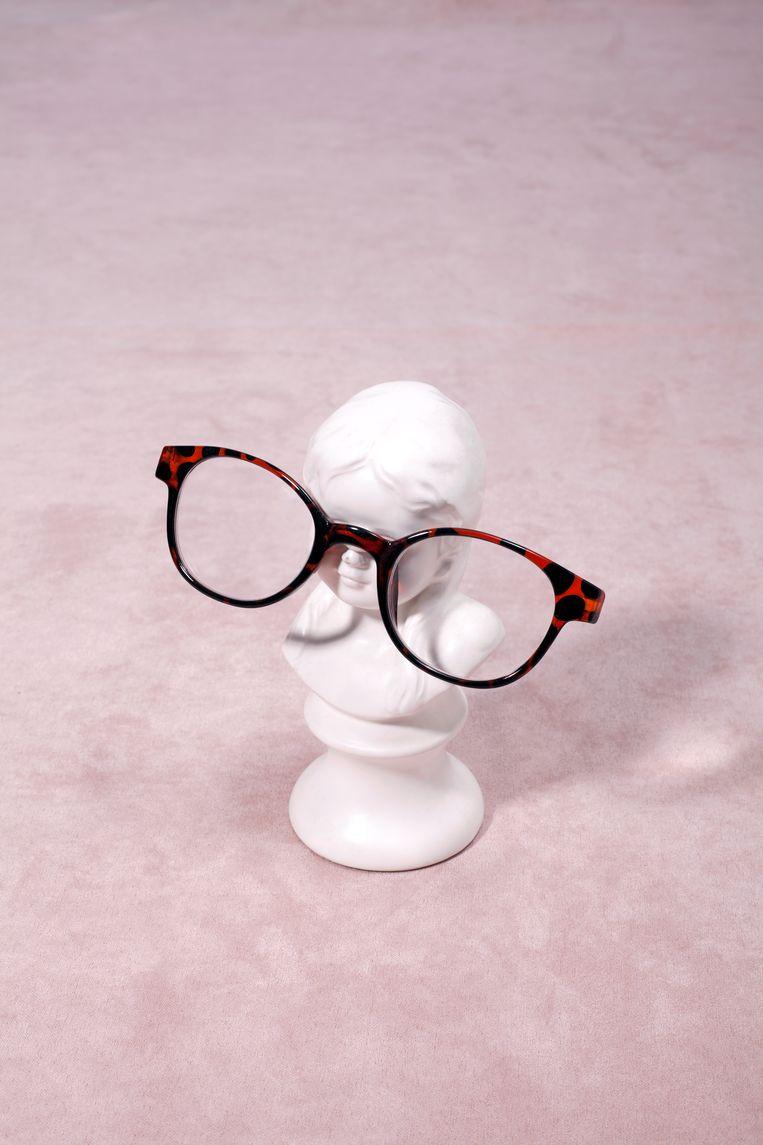 Saskia Noort besloot na acht jaar lang brillen zoeken en schrijven omringd door drie sterktes, een voor de computer, een voor het lezen van research en een voor veraf, eens te googelen op 'nooit meer een leesbril'. Beeld Krista van der Niet