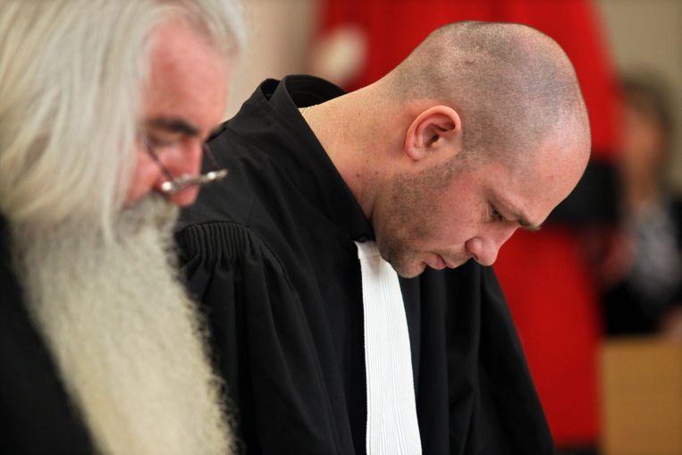 Bert Vanmechelen samen met zijn mentor de bekende strafpleiter Geert Jaspaert in mei 2009 in Tongeren tijdens het assisenproces van  Bruno Kens. Kens werd veroordeeld werd voor de moord op zijn 26-jarige echtgenote  Priscillia Leurs.