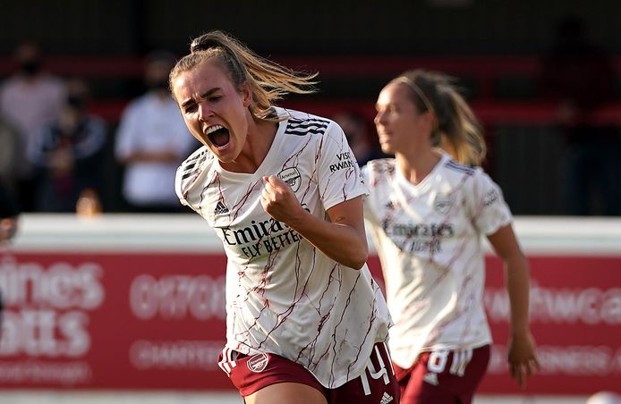 Voor haar club Arsenal kon Roord al veel juichen.