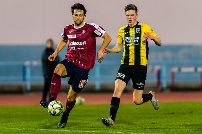 Talent Daan Huisman scoorde bij Jong Vitesse.