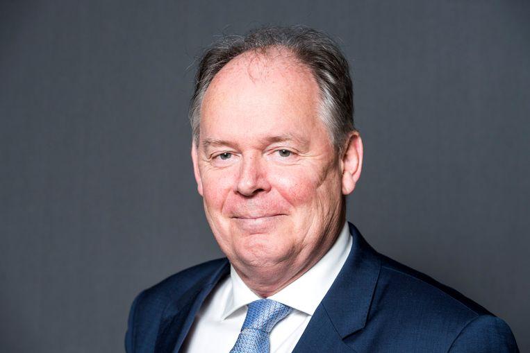 Paul van Meenen schreef het onderwijsplan van D66. Symbool van de nieuwe D66-school is de 'gezonde warme maaltijd tussen de middag'. Beeld ANP