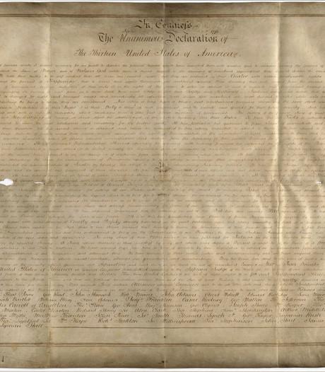 Tweede exemplaar opgedoken van Amerikaanse Onafhankelijksheidsverklaring