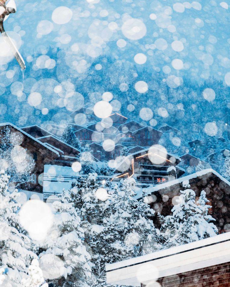 Grimentz, het Zwitserse dorp waar 'Echo' zich grotendeels afspeelt. Beeld Rebecca Fertinel