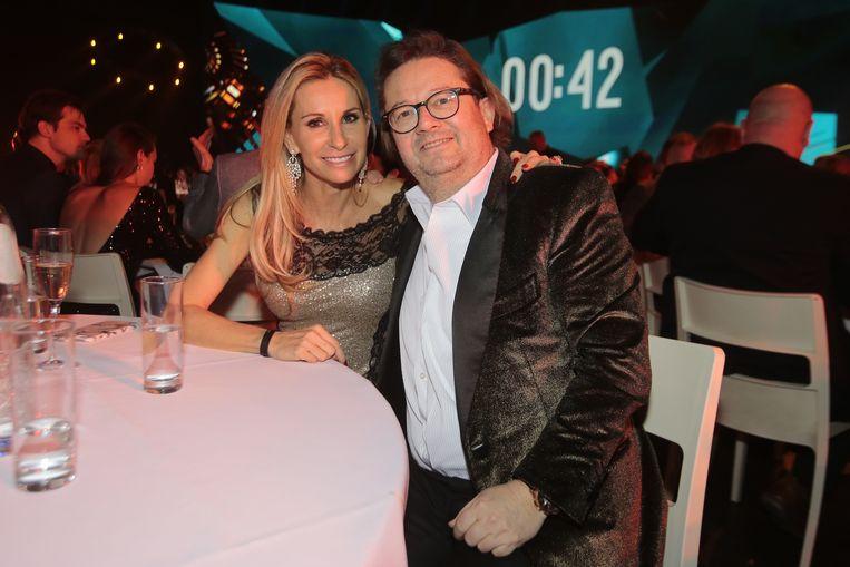 Coucke met zijn partner op het Gala van de Gouden Schoen vorige week.