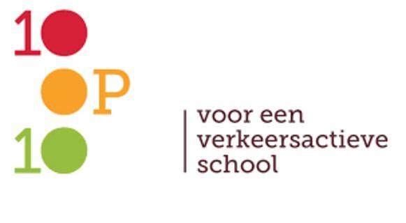 Met het label '10op10' ondersteunt de provincie Antwerpen verkeersactieve scholen.