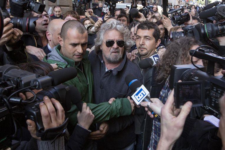 De Italiaanse populist en blogger Beppe Grillo. Beeld AP