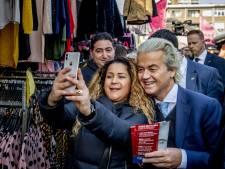 Wilders trapt campagne af op de Haagse Markt, 'in hol van de leeuw'