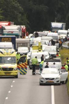 Motorrijder zwaargewond door ongeluk op A28 bij Harderwijk