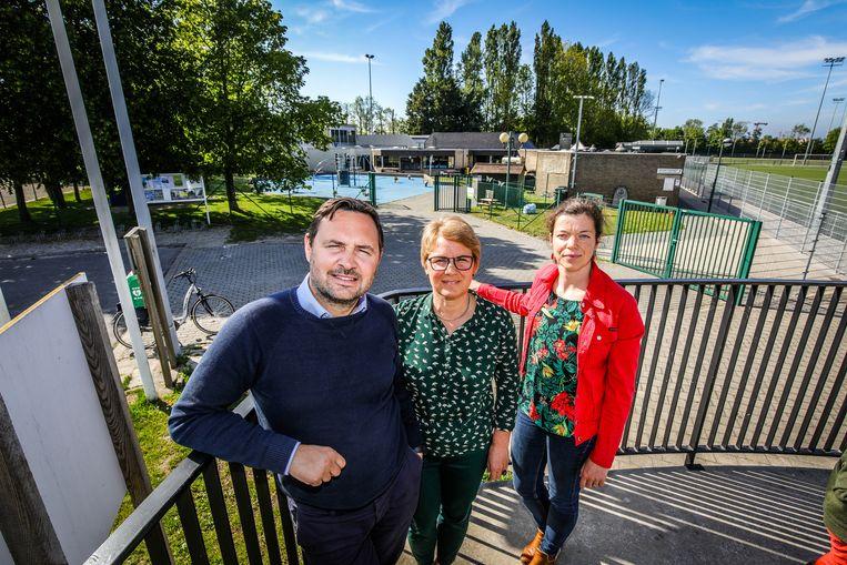 Nieuwpoort: er komt een nieuwe sporthal: Bert Gunst, Evelyn Vyvey, Julie Vanpeteghem