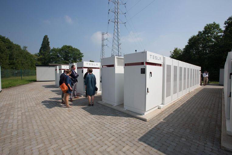 Het batterijpark aan Terhills in het Limburgse Lanklaar: zo zal het er hier ook ongeveer gaan uitzien.