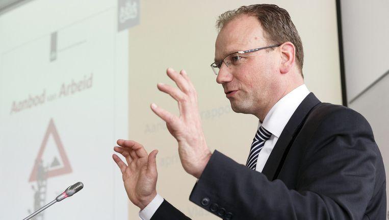 Ton Heerts heeft zich na het sluiten van het sociaal akkoord kandidaat gesteld voor het voorzitterschap van FNV. Beeld ANP