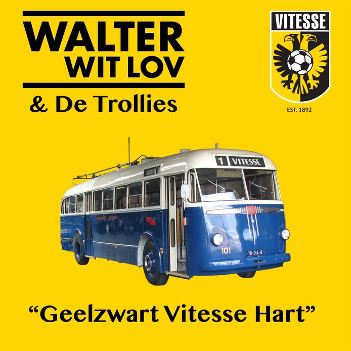 Hoesje van 'Geelzwart Vitesse Hart', single van Walter Witlov & De Trollies