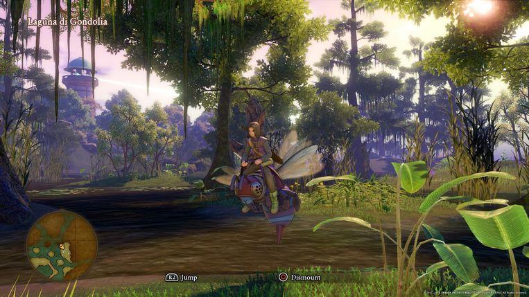 Klim even op een gigantische wesp om de moerassen rond Gondolia te verkennen.