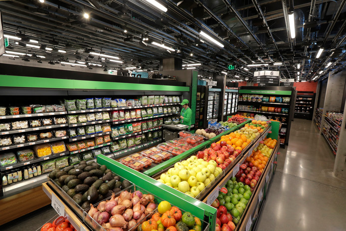 De nieuwe supermarkt in Seattle.