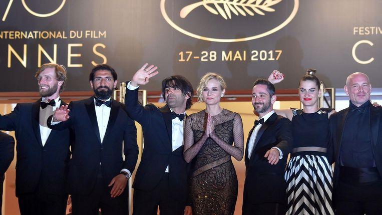 De film van Fatih Akin (derde van links) kon Jan Pieter Ekker niet echt bekoren. Beeld anp