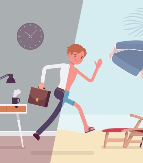 Op vakantie als het op werk eigenlijk niet kan? 'Kom met argumenten'