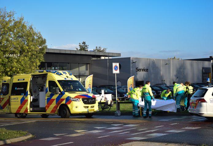 De hulpdiensten ter plaatse bij het ongeluk in Doetinchem.