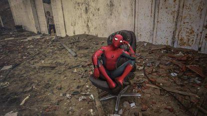 Palestijnse man brengt Israëlische luchtaanvallen (en Spiderman) origineel in beeld