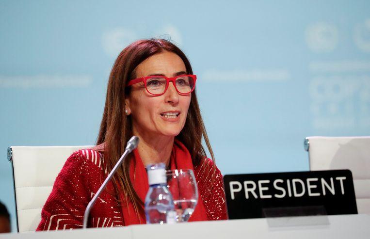 De voorzitter van de klimaattop Carolina Schmidt. Beeld REUTERS