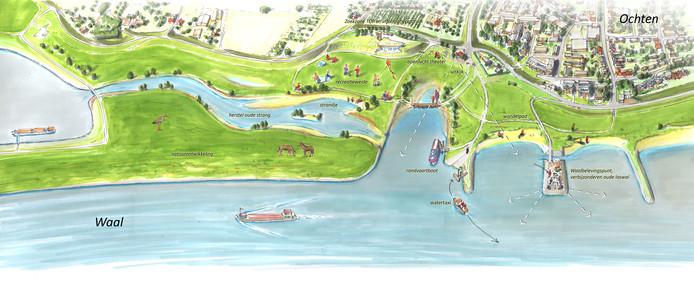 Een conceptplan voor de Veerhaven bij Ochten