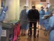 LIVE | Corona in de regio: Kippenvel, genezen patiënt wandelt onder luid applaus Isala ziekenhuis Zwolle uit