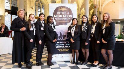 Leerlingen organiseren onthaal op VN-conferentie