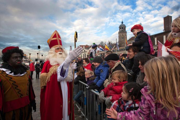 Intocht van Sinterklaas in Deventer.
