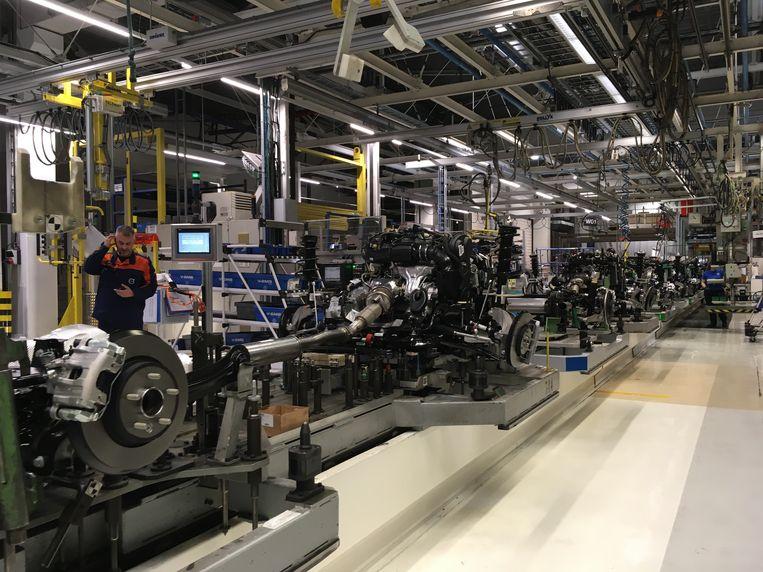 Volvo Car Gent: een productielijn