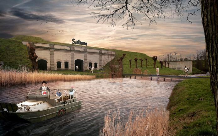 Artist impression plannen voor Fort Sabina