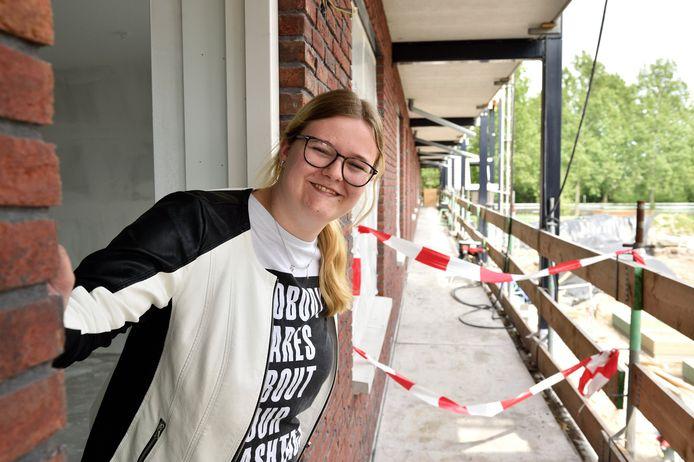 De Goudse zorgmedewerkster Fraukje de Kreij (20) hoopt in aanmerking te komen voor het voorkeursexperiment.