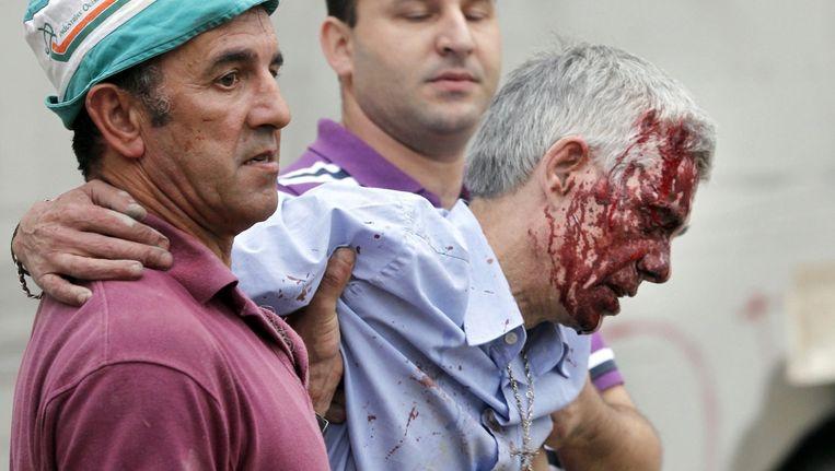 Francisco José Garzon Amo raakte zelf lichtgewond. Beeld AP