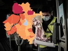KAART | Urk kent slechte dag, ook Noordoostpolder en Staphorst kleuren donkerrood op coronakaart