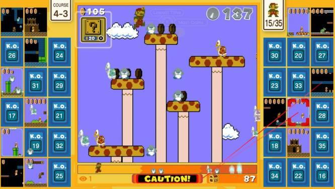 'Super Mario Bros. 35' geeft te weinig ruimte aan je slechte karakter