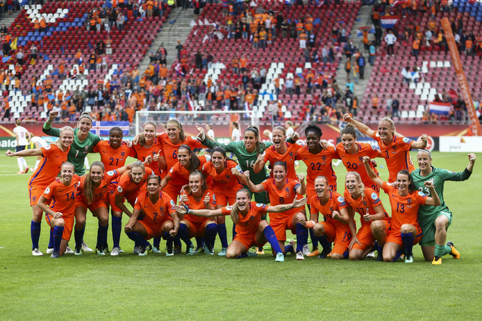 Grote vreugde bij de Nederlandse selectie.