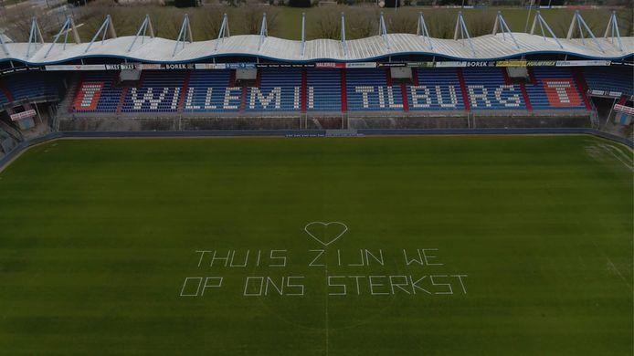 Beelden gemaakt boven het Willem II stadion