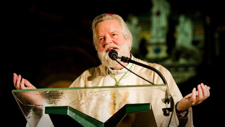 Bisschop Jos Punt heeft zijn zegen voor de basiliek gegeven. Beeld anp