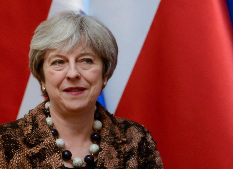 De Britse premier Theresa May Beeld epa