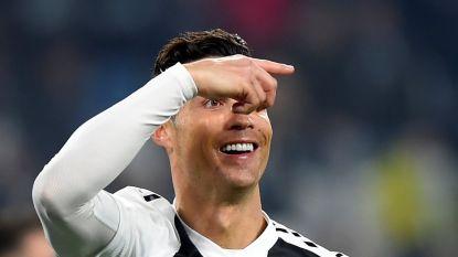 Ronaldo pikt zijn goaltje mee in ruime zege Juventus