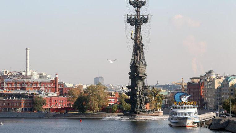 Het Peter de Grote monument in Moskou Beeld epa