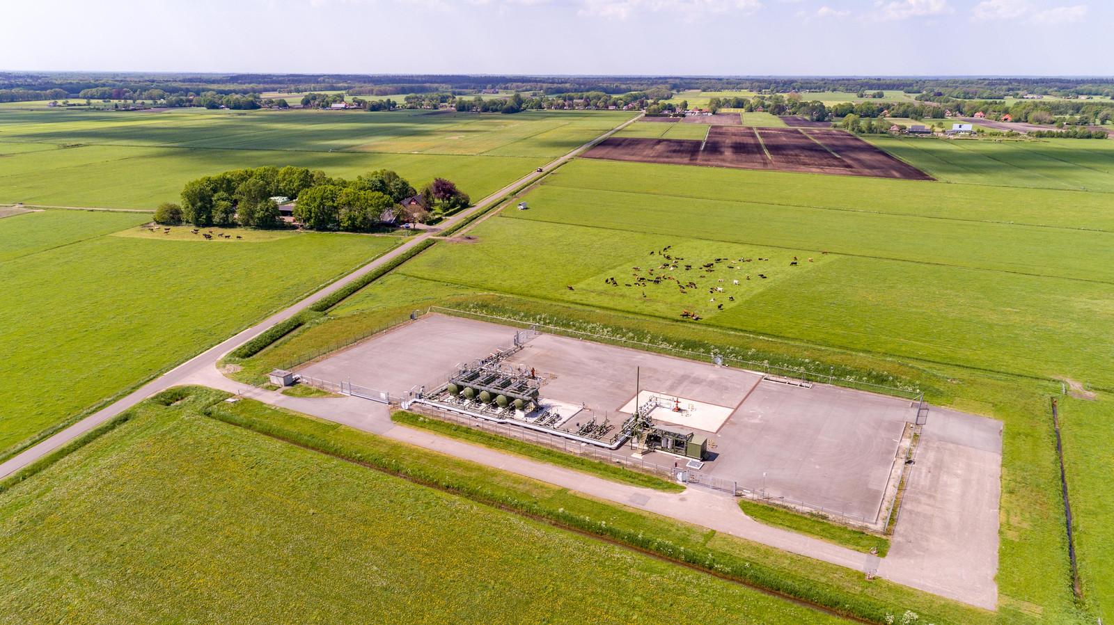 De gaswinlocatie in Eesveen.
