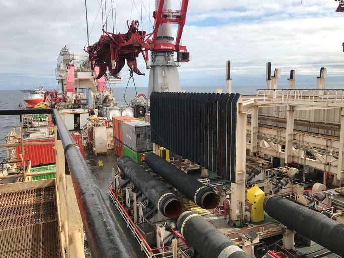 Allseas stopt met de aanleg van de Nord Stream 2 pijplijn