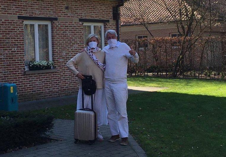 Jos Vekemans en zijn vrouw Anita Hunninck geraakten dan toch thuis vanuit Australië.