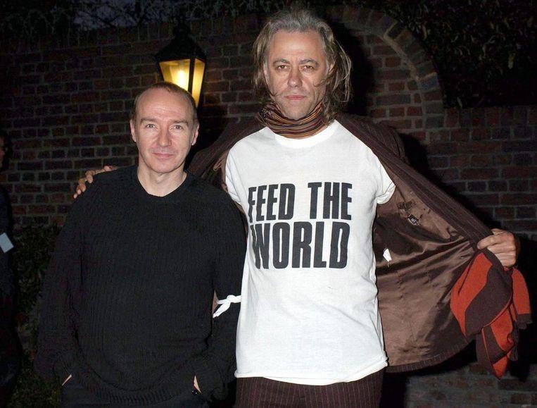 Bob Geldof, rechts, tien jaar geleden in 2004. Beeld epa