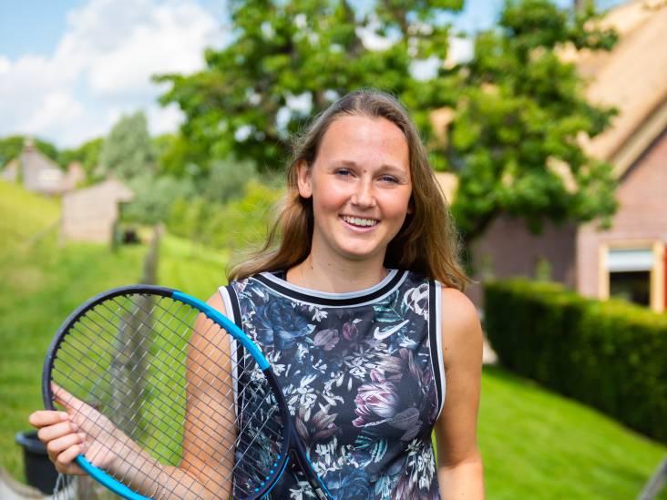 Tennistalent uit Schoonhoven mag haar geluk beproeven in Amerika