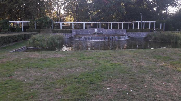 Fontein in het Van Koolwijkpark.