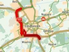 Ongeluk op A2 bij Eindhoven, weg weer vrij