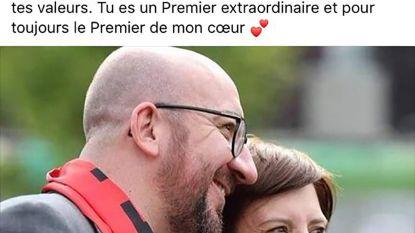 De mooiste pluim krijgt premier Michel van zijn lief Amélie