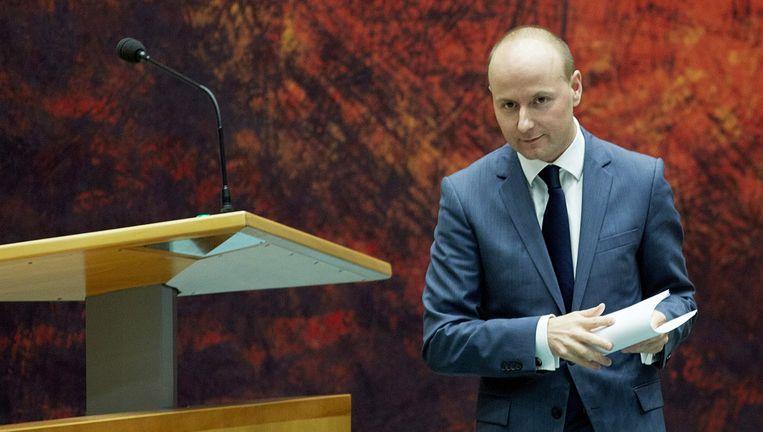 VVD-Kamerlid Mark Verheijen in de Tweede Kamer. Beeld ANP